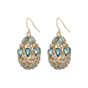 KTcollection NYC Blue Fabergé Egg Earrings  {NWOT}